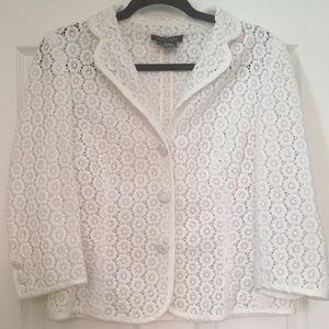 10-12 Ectetera White Coverlet/Jacket::Sheer